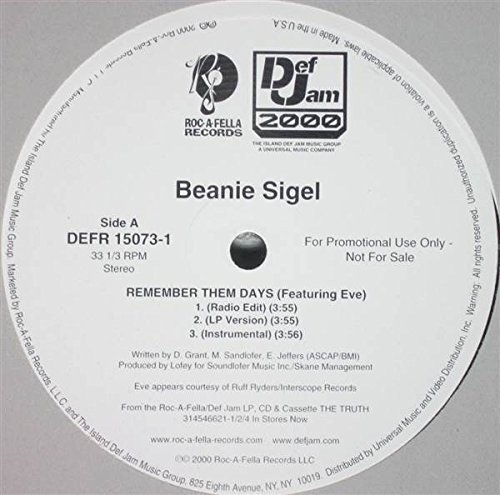 Beanie Sigel – Remember them Days (Instrumental)